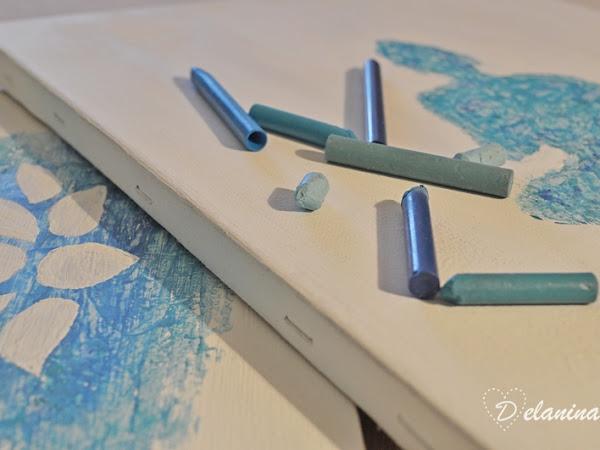 DIY: Cuadro con ceras de colores