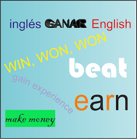 diferencias entre win, beat, earn y gain