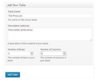 cara mudah membuat Tabel pada Postingan Blog memahami HTML