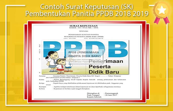 Contoh Surat Keputusan (SK) Pembentukan Panitia PPDB 2018 2019