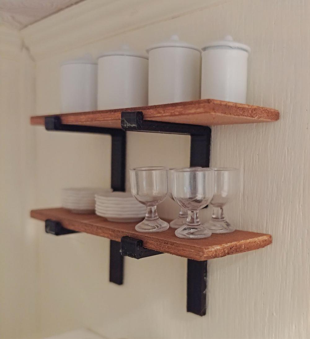 dollhouse open shelves