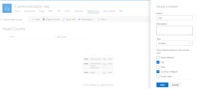 Adding Location Field onto SharePoint List