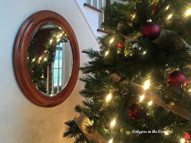Christmas in the Foyer - Transitioning from Fall to Winter Decorating