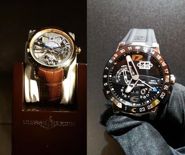 Ulysee Uhren, mit schwarzen Ziffernblatt und skelettartigen Design