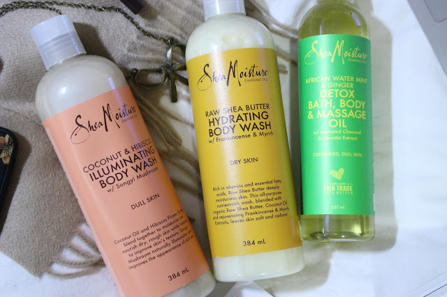 SheaMoisture Body wash review, SheaMoisture Raw Shea Butter Hydrating range, SheaMoisture African Water Mint & Ginger Detox, sheamoisture bath body