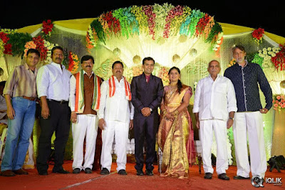 Celebs at Pratani Ramakrishna Goud Son Wedding Reception