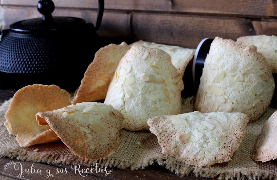 Tejas de almendra sin gluten. Julia y sus recetas