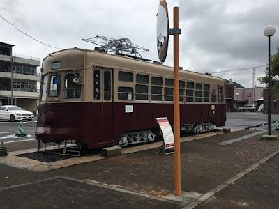 路面電車の車両展示