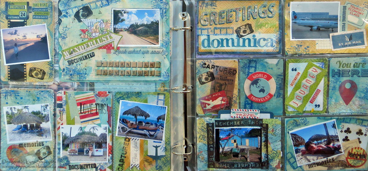 Dominica Misc. Me Pages by Lynn Shokoples using the Souvenir Collection