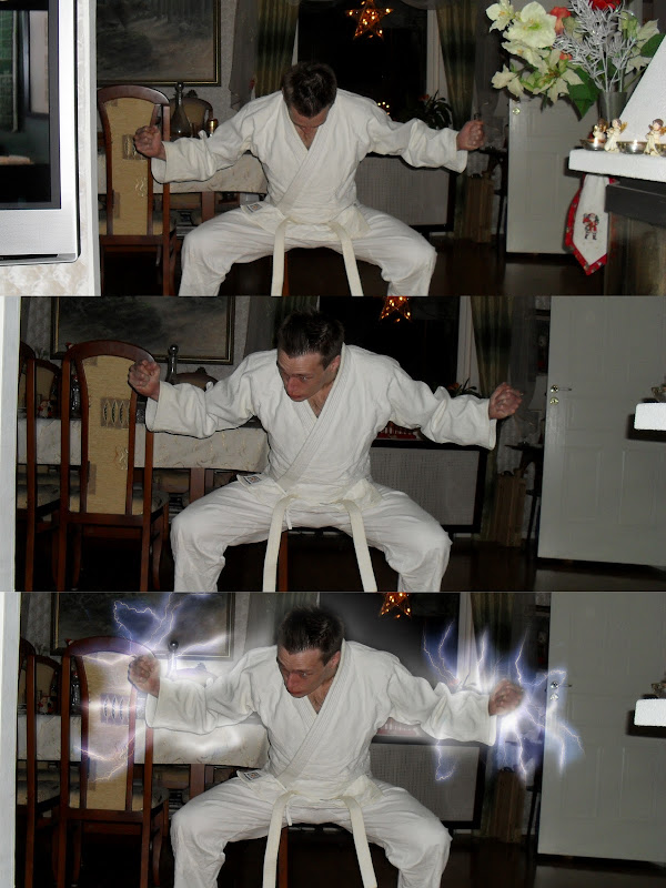 Martin Charging his enegry — Sequence of pictures