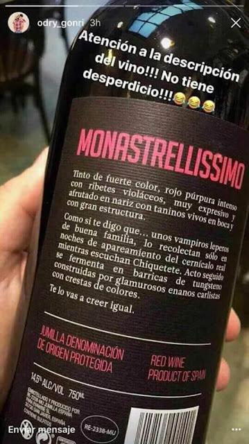 Monastrellísimo , monastrell ,vino, descripción buenísima