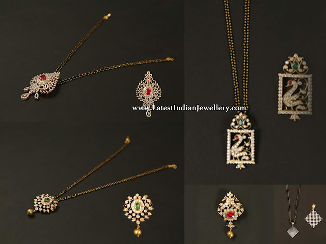 Diamond Pendants for Black Beads