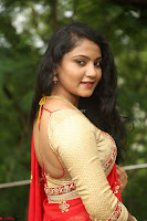 Akshara in Red Saree Golden Choli at LV Movie Makers Production No 1 Movie Opening ~  Exclusive 112.JPG