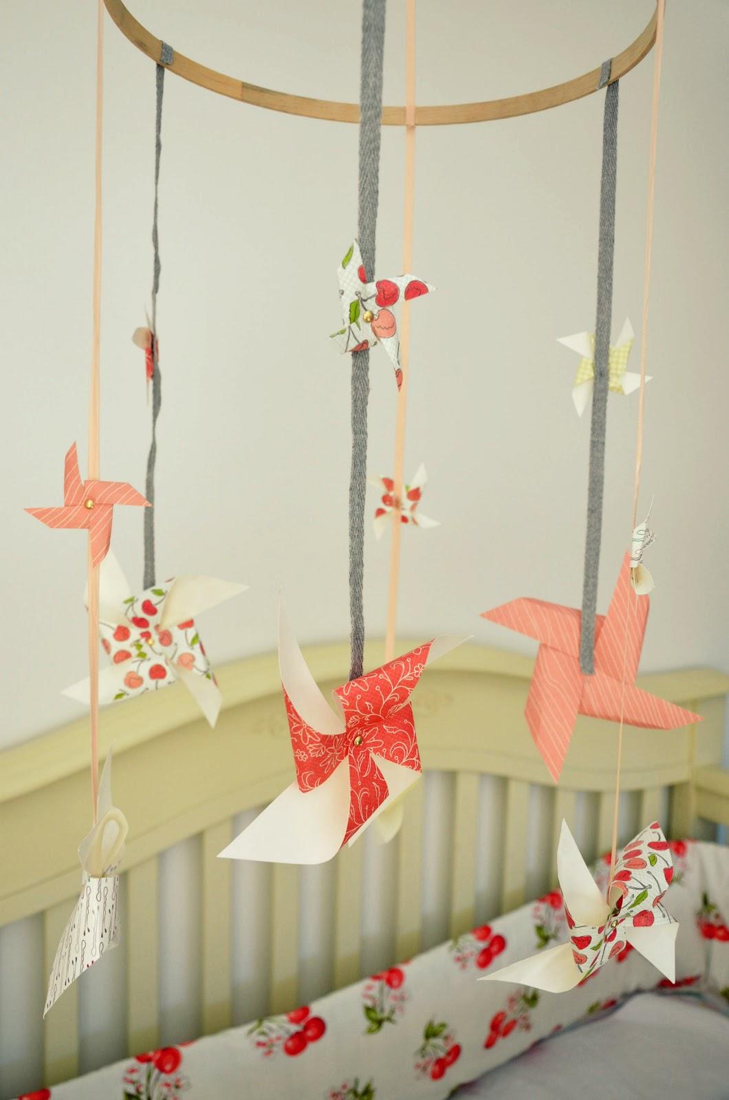 Johnny and Ashley: homemade pinwheel crib mobile