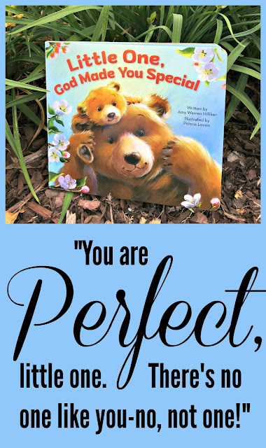 "Little One, God Made You Special By Amy Warren Hilliker - A Christian board book for toddlers -""You are Perfect, little one. There's no one like you-no not one!"