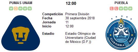 Pumas UNAM vs Puebla en VIVO