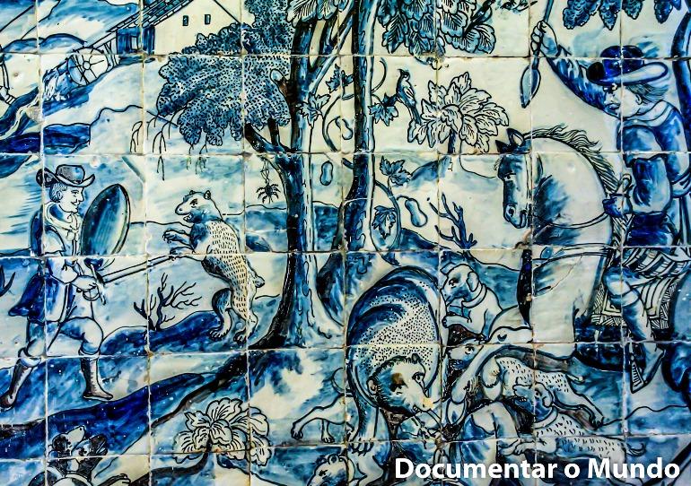 Sala de Caça; Azulejos Portugueses; Palácio dos Condes da Calheta