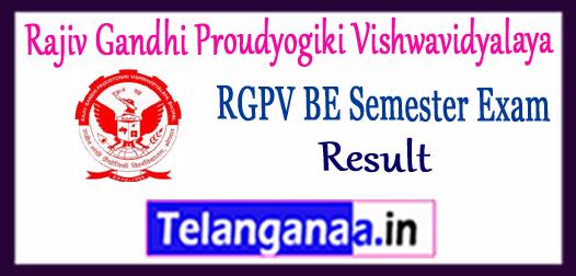 RGPV Rajiv Gandhi Proudyogiki Vishwavidyalaya Non-Grading BE 1st 2nd 3rd 4th 5th 6th 7th 8th Semester Result 2017