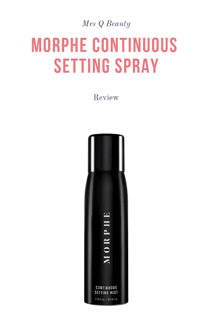 Morphe Continuous Setting Mist Review