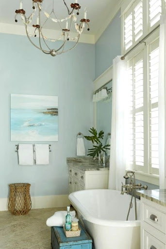 Wall Art Ideas for Coastal Beach House Bathrooms