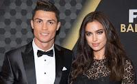 Foto Cristiano Ronaldo dengan Irina Shayk