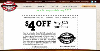 Boston Market coupons february