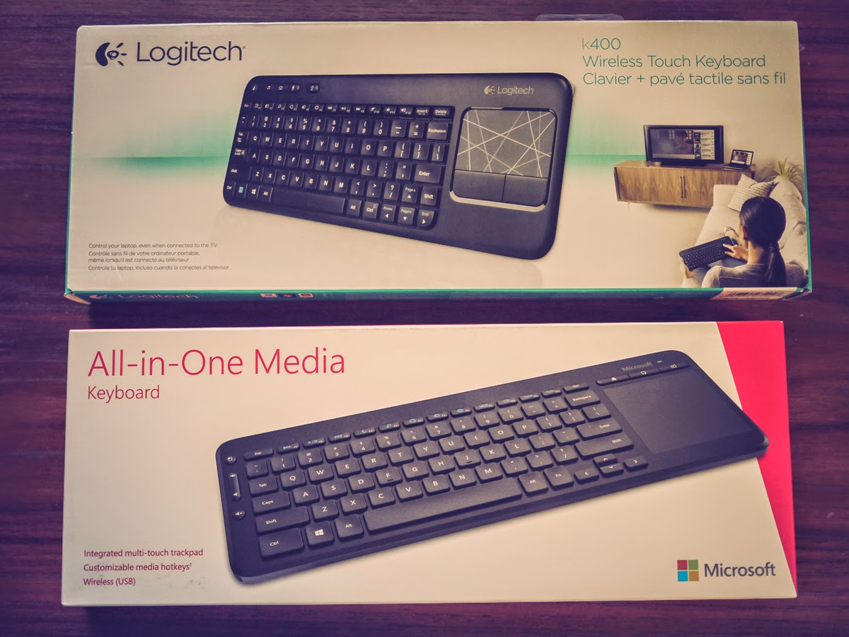 Fortysomething Geek: Microsoft All-in-One Media Keyboard vs Logitech