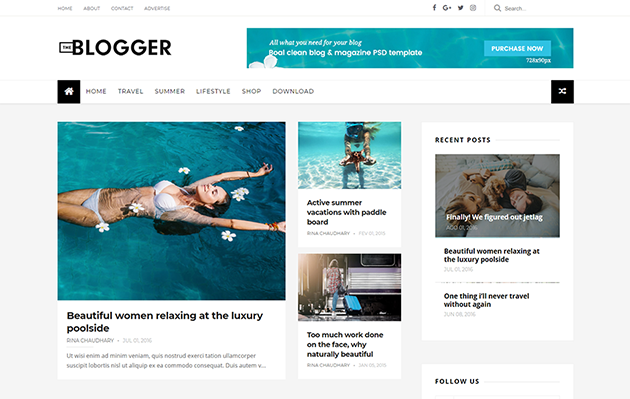 The Blogger template responsive 2018