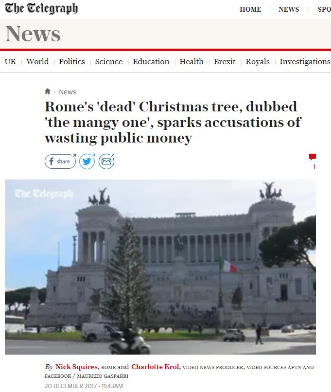 thetelegraph Spelacchio non si tocca, Buon Natale a tutti