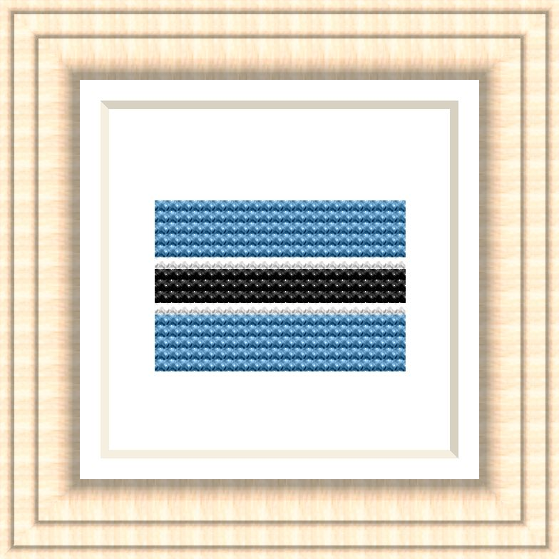 NATIONAL FLAG OF BOTSWANA CROSS STITCH CHART