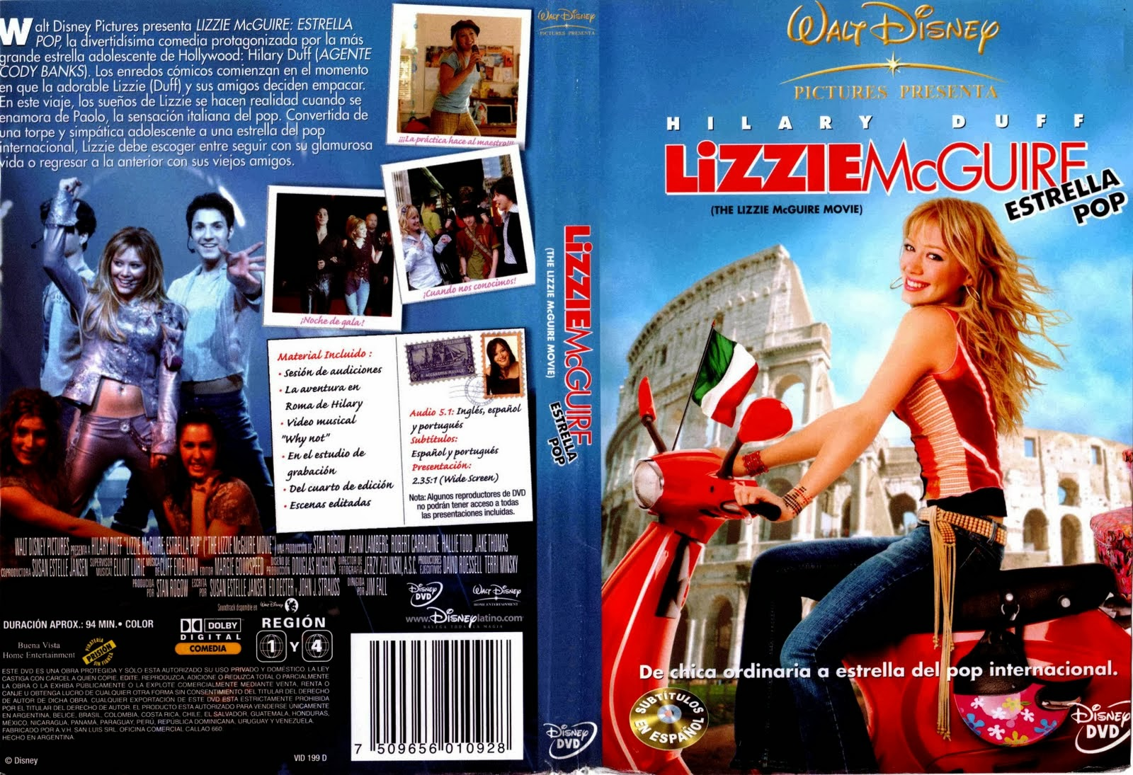 the lizzie mcguire movie pelicula completa español