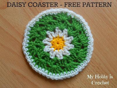 daisy coaster-free crochet pattern