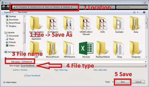 Save CSV File As XLSX File