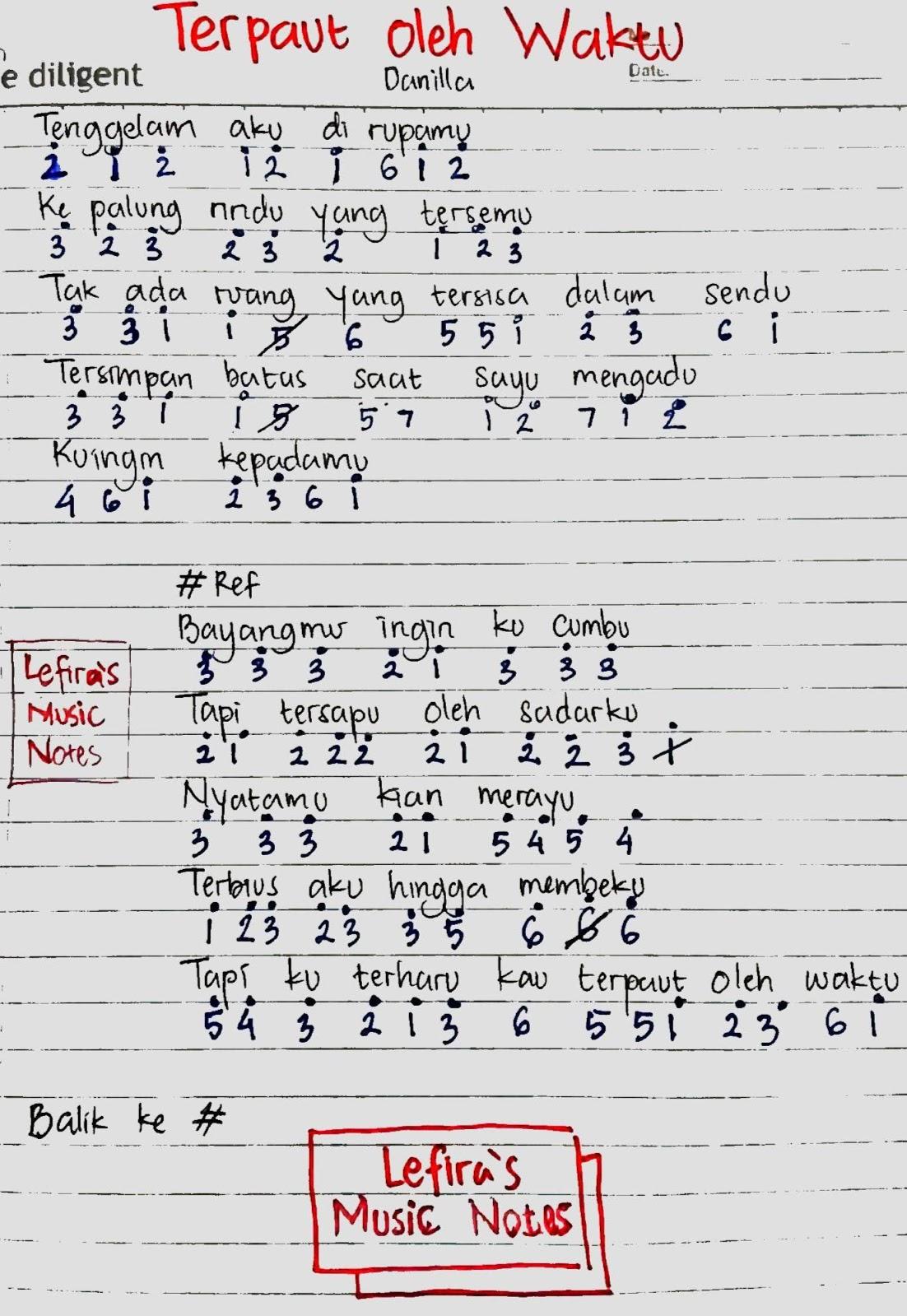 Chord Berdistraksi : chord, berdistraksi, Angka, Danilla, Terpaut, Waktu