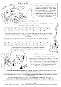 La Catequesis El Blog De Sandra Explicación Sencilla Qué Es La Fe Para Los Niños