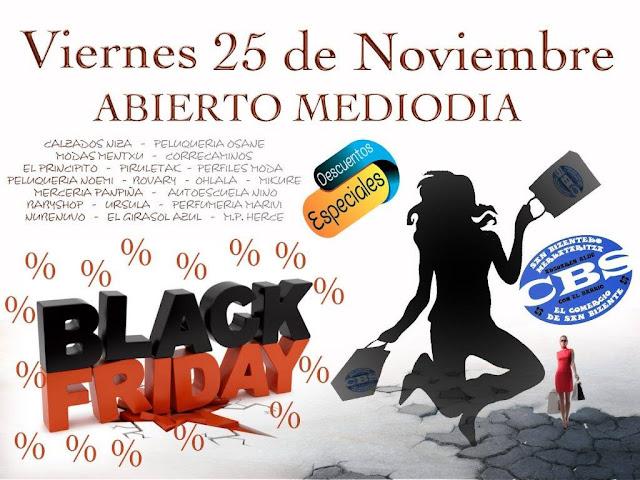 Cartel de la promoción del viernes negro en San Vicente