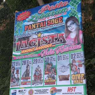LARASATI Live Pantai Soge Pacitan Idul Fitri 1 Juli 2017