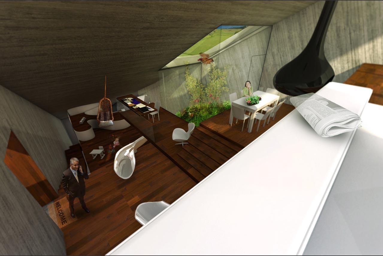 The Hidden House Project By 123DV Modern Villas. A Study