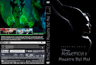 CARATULA LABELMALEFICENT MISTRESS OF EVIL- MALEFICA MAESTRA DEL MAL 2019 [COVER DVD]