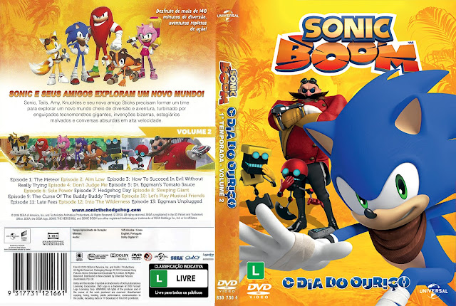 Capa DVD Sonic Boom O Dia do Ouriço [Exclusiva]