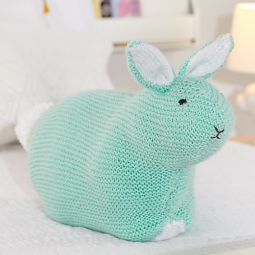Simple Bunny Pillow Toy - Free Pattern
