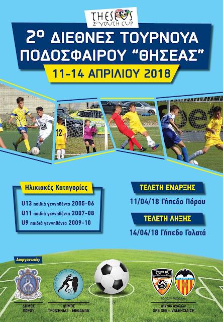 """2ο Διεθνές Τουρνουά Ποδοσφαίρου """"ΘΗΣΕΑΣ"""""""