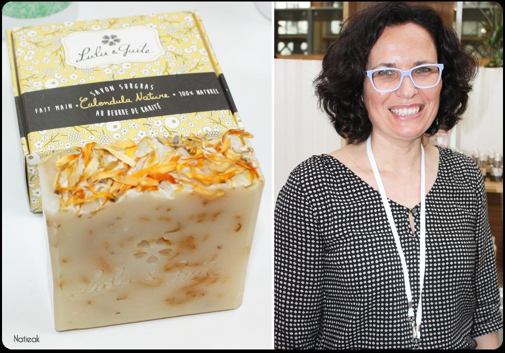 Olga la créatrice de Lulu et Guite et le savon surgras calendula nature