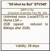"BSNL Launches  ""Dil Khol Ke Bhol ""STV349 To Offer 2GB 3G Data Per Day and Unlimited Voice Calls  Valid For 28 Days"