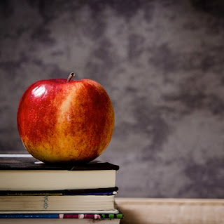 Pushy Parent? Apple on Teacher's desk