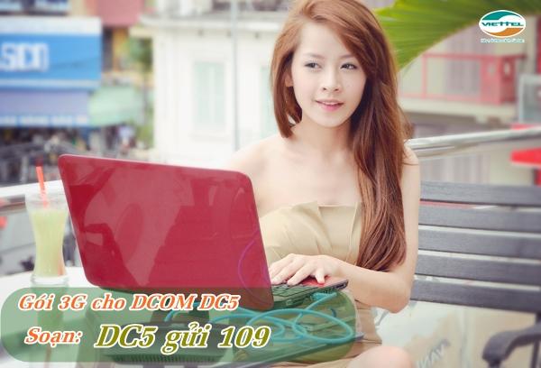 Đăng ký gói DC5 Viettel chỉ 5000đ/ngày có ngay 1GB data