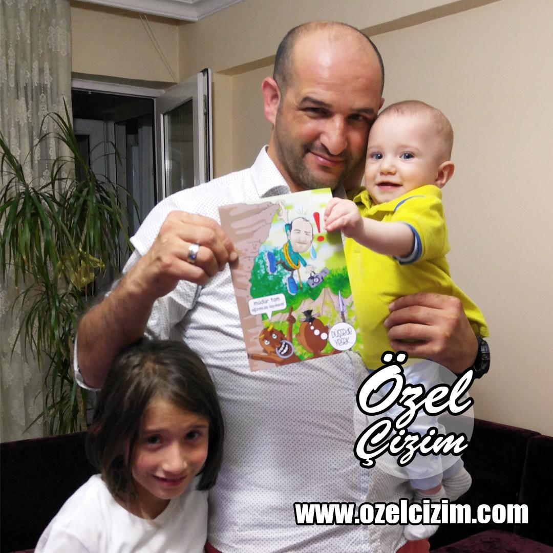 baba karikatür, babalar gunu, Babalar Günü, babalar günü hediyesi, babaya hediye, dağcı, karikatür, karikatür portre, komik babalar günü, komik hediye, Özel Çizim, özel hediye,