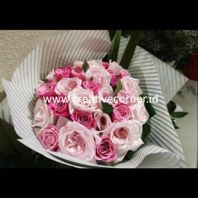Kertas Buket Bunga / Hand Bouquet Seri LL-060060-Twill