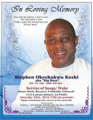 Keshi's Obituary Poster and Burial Arrangements Revealed ...