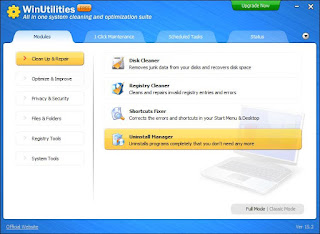 برنامج, تنظيف, الويندوز, ورفع, كفائته, WinUtilities ,Free ,Edition, أخر, اصدار